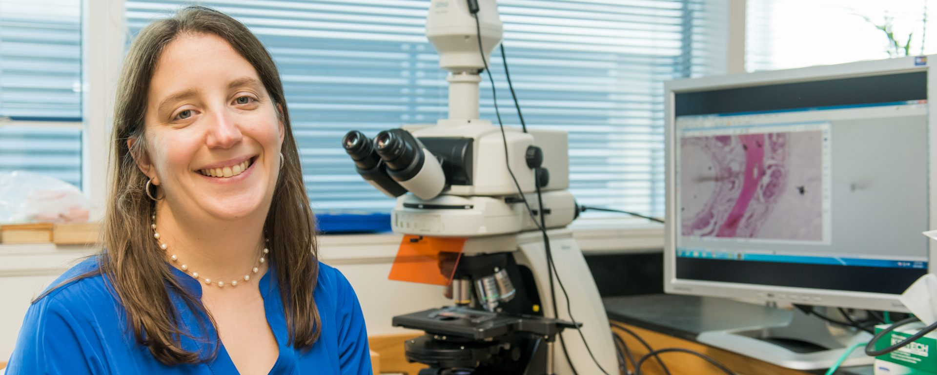 Colleen Burge pictured in her lab