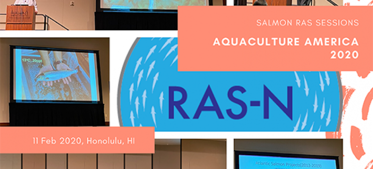 compilation of images of RAS-N members presenting at Aquaculture America 2020