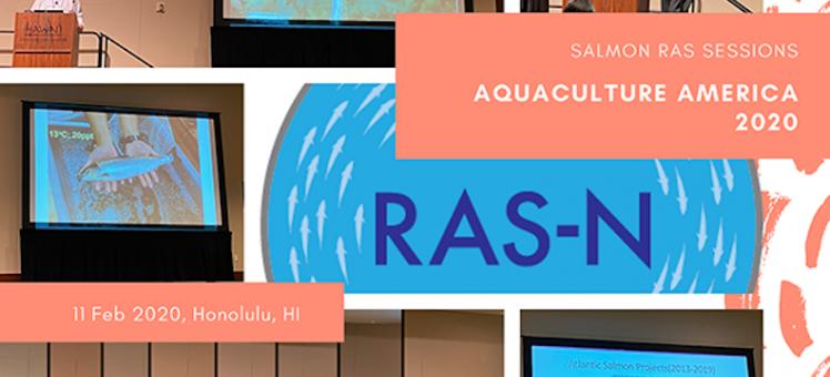 compilation of images of RAS-N members presenting at Aquaculture America 2020