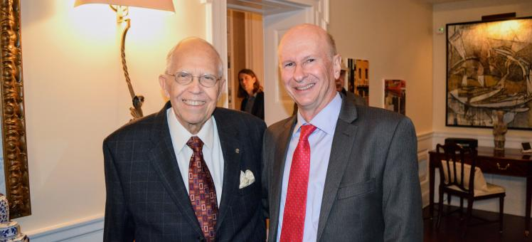 Jim Albrecht and IMET Executive Director Russell Hill
