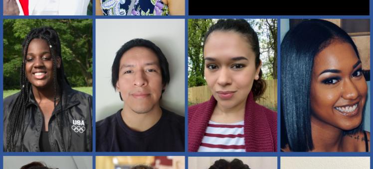 """headshots of interns arranged around text, """"IMET 2020 Summer Interns"""""""