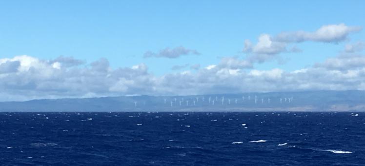 open ocean with clouds