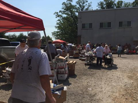 food distribution with fish from IMET