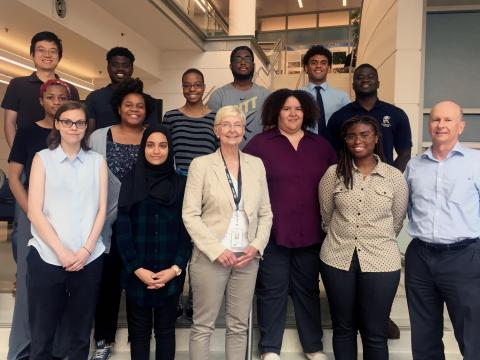 Dr. Rose Jagus with interns in 2019