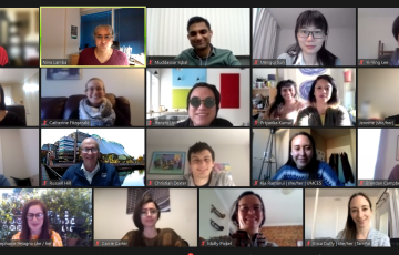 screenshot of Zoom meeting with MICA and IMET students