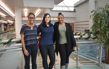IMET students Ana Sosa, Shadaesha Green, and Amanda Lawrence
